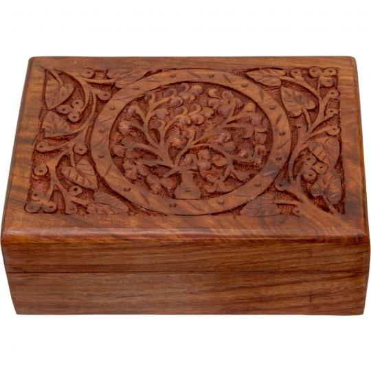 Decorative Wooden Tree of Life Tarot Box