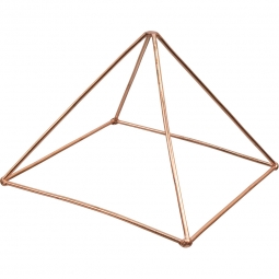 6 inches Hanging Copper Merkaba Energizer w/ Chakra Crystals (Each