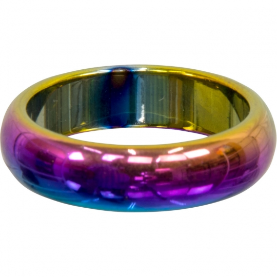 f6128a910b2d1 Rainbow Hematite Ring Round - Non Magnetic (Pk 50)