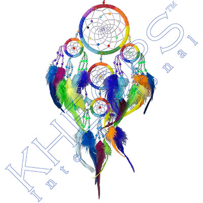 Dreamcatcher chakras rainbow each kheops international for Dreamcatcher beads meaning
