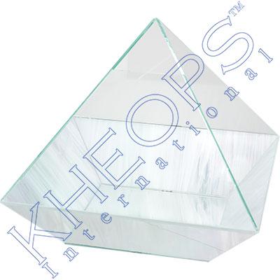 Art Glass Pyramid Energizer   Crystal (each)