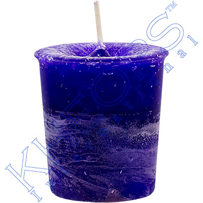 Chakra votive candle third eye cobalt box of 18 kheops for Votive candles definition