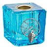 Mini Glass CANDLE Holder Dreamcatcher Aqua (Each)