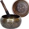 Embossed Singing Bowl Medium 5 Dhyani Buddhas  (ea
