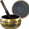 Singing Bowl rounded large  OM Black & Gold (Each)