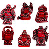 Polyresin Feng Shui FIGURINEs 2-inch Buddha Redstone (Set of 6)