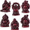 Polyresin Feng Shui FIGURINEs 1-inch Buddha Redstone (Set of 6)
