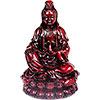 Polyresin FIGURINE 3.75-inch Meditating Quan Yin Redstone (each)