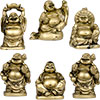 Polyresin Feng Shui FIGURINEs 2-inch Buddha Gold (Set of 6)
