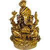 Polyresin Feng Shui FIGURINEs Sitting Ganesha - Natural (each)