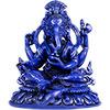 (DISC)Resin FIGURINE Ganesh Blue (each)