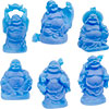 Frosted Acrylic Feng Shui FIGURINEs  Buddha Blue (Set of 6)