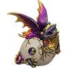Hatching Purple/Gold Dragon FIGURINE w/Gem (Each)