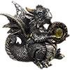 Baby Silver Dragon FIGURINE w/Gem (Each)