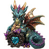 Baby Aqua Dragon FIGURINE w/Gem (Each)