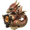 Baby Copper Dragon FIGURINE w/Gem (Each)