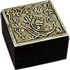 White Metal TRINKET BOX - Lotus (each)
