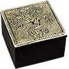 White Metal TRINKET BOX - Tree of Life (each)
