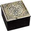 White Metal TRINKET BOX - Pentacle (each)
