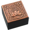 Bronze Metal TRINKET BOX - Flower of Life (Each)