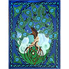 Cotton Single TAPESTRY  Tree of Life Man  (Each)