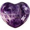Puffed Gemstone Hearts - Chevron AMETHYST (each)