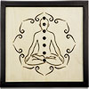 Wooden Black FRAME LED Lights - Meditation Chakras - AAA battery (not included) (Each)