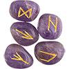 Gemstone Rune Set AMETHYST (each)