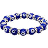 GLASS BEADS Elastic Bracelet  Evil Eye Protection Cobalt blue (Each)
