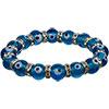 GLASS BEADS Elastic Bracelet  Evil Eye Protection Aqua (Each)