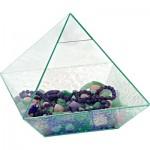 "Art Glass 10 "" Pyramid Energizer Crystal"