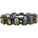 Hematite Elastic Saints Bracelet