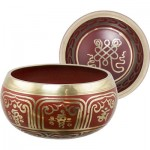 Singing Bowl Endless Knot Red