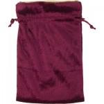 Velvet Burgundy Bag with Gold Lining